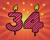 34 años junto a ti ….